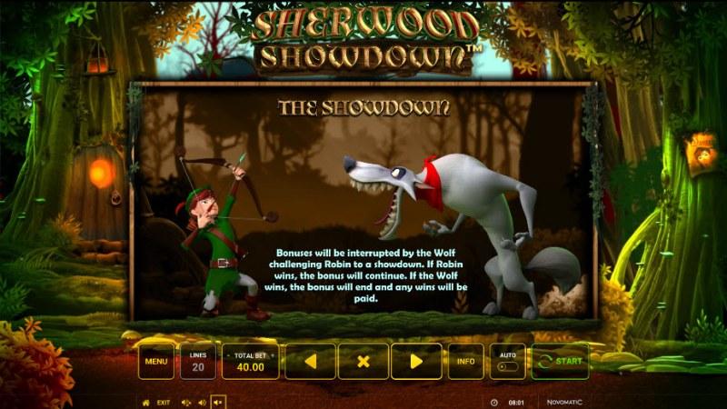 Sherwood Showdown :: The Showdown Feature