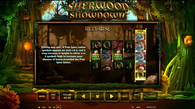 Sherwood Showdown :: Reel Rise Feature