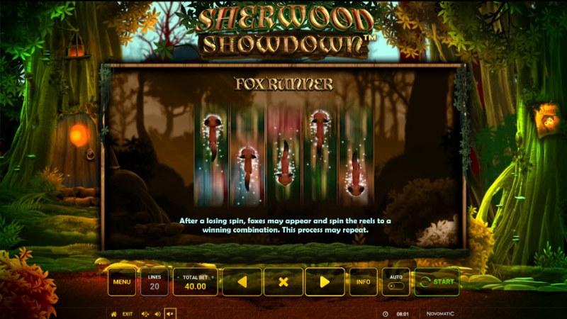 Sherwood Showdown :: Fox Runner Feature