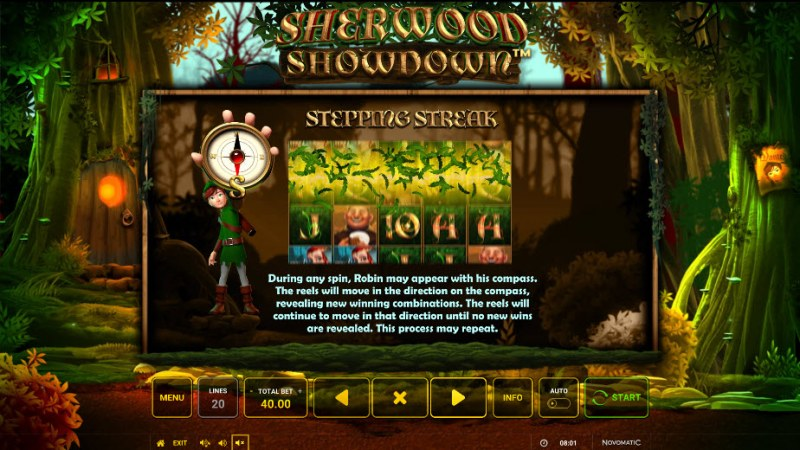 Sherwood Showdown :: Stepping Streak Feature