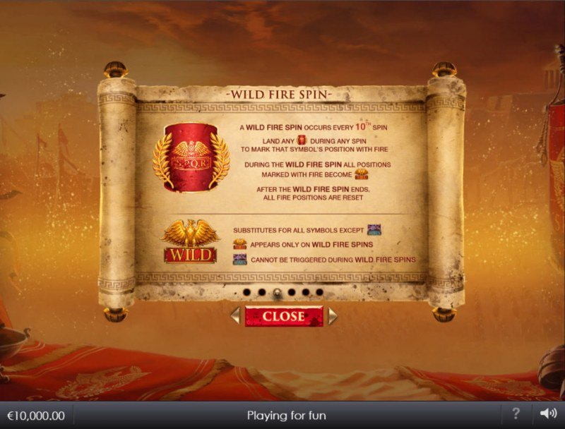 Shields of Rome :: Wild Fire Spin