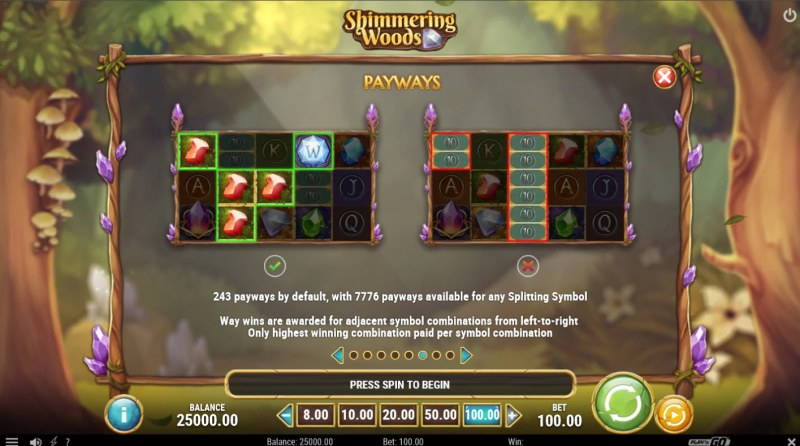 Shimmering Woods :: Up to 7776 Ways to Win