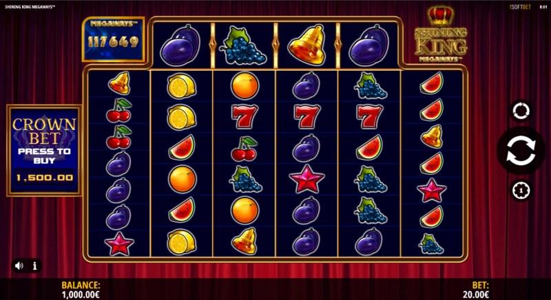 Shining King Megaways :: Main Game Board