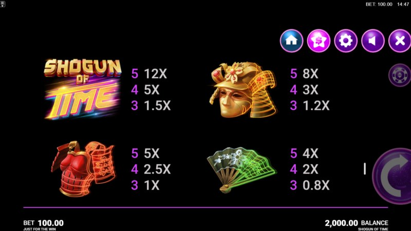 Shogun of Time :: Paytable - High Value Symbols