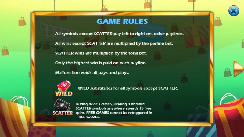 Shopping Fiend :: Wild and Scatter Rules