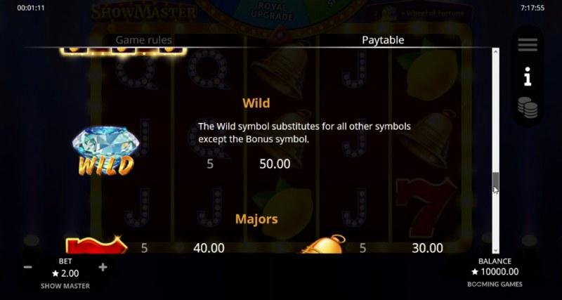Show Master :: Wild Symbols Rules