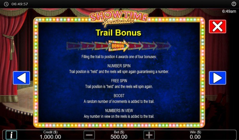 Showtime Spectacular :: Trail Bonus