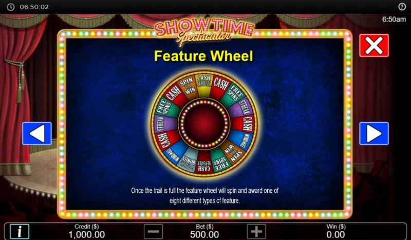 Showtime Spectacular :: Feature Wheel