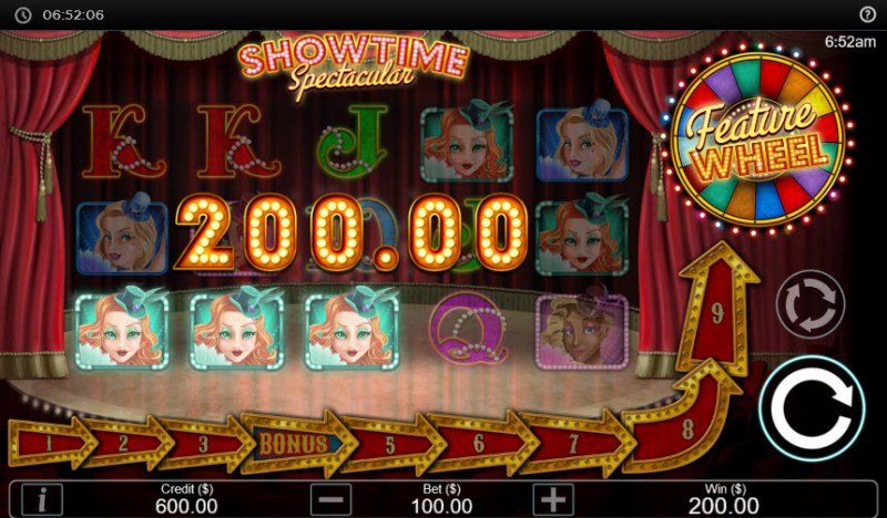 Showtime Spectacular :: Three of a kind win