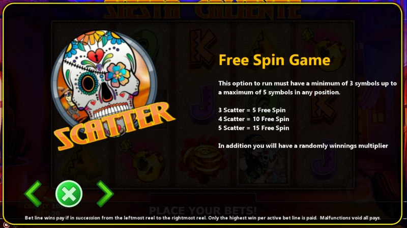 Siaste Caliente :: Free Spins Rules
