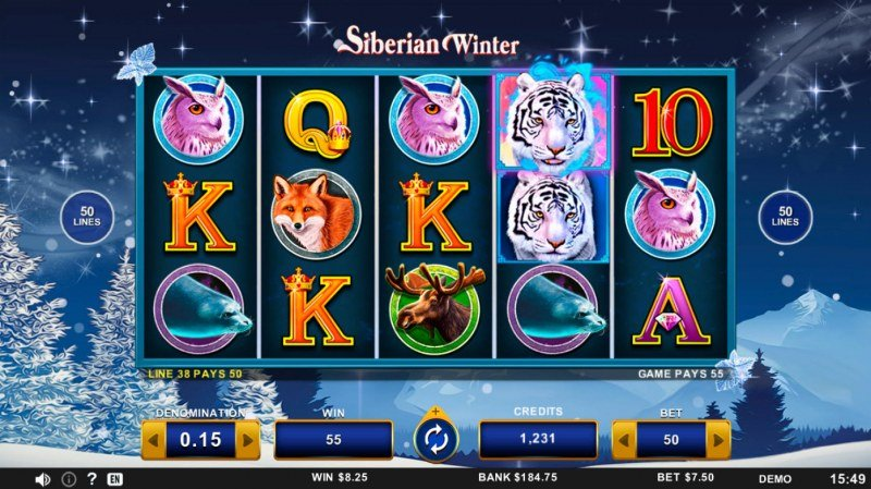 Siberian Winter :: A four of a kind win