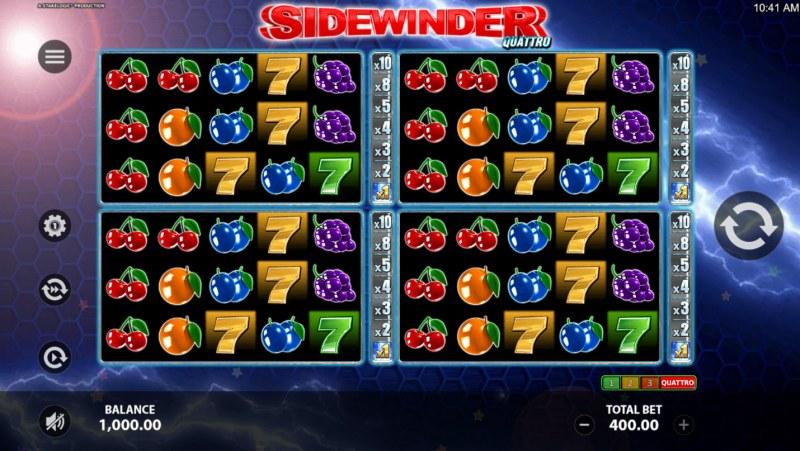 Sidewinder Quattro :: Quatro game board