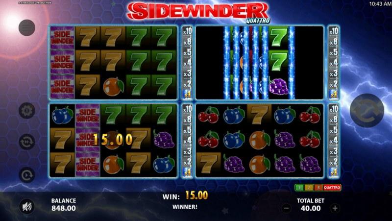 Sidewinder Quattro :: Sidewinder feature triggered
