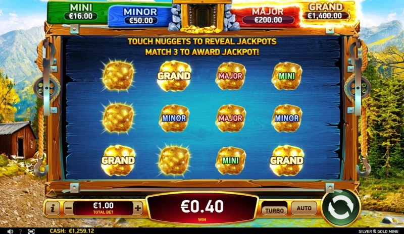 Silver & Gold Mine :: Jackpot Pick Feature