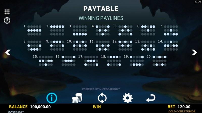 Silver Seas :: Paylines 1-20