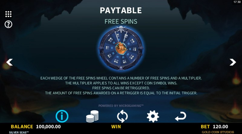 Silver Seas :: Free Spin Feature Rules