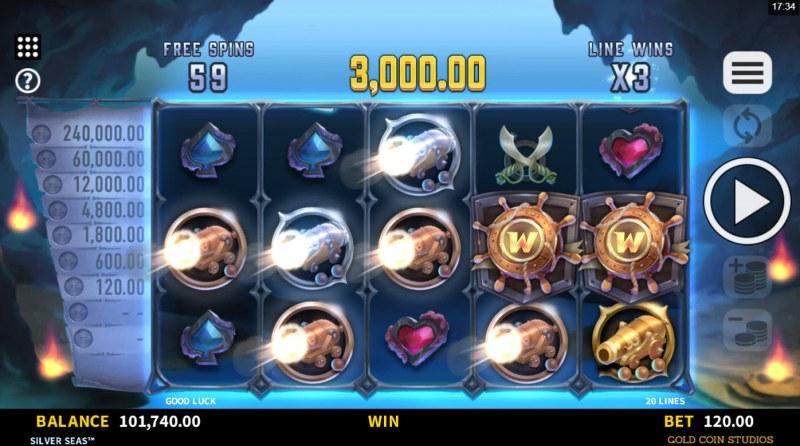 Silver Seas :: Multiple winning paylines