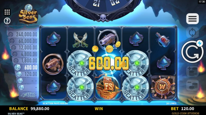 Silver Seas :: Scatter Coin Win