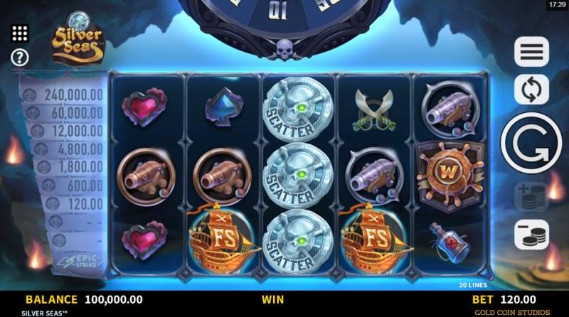 Silver Seas :: Base Game Screen