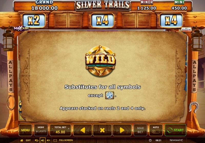 Silver Trails :: Wild Symbol Rules