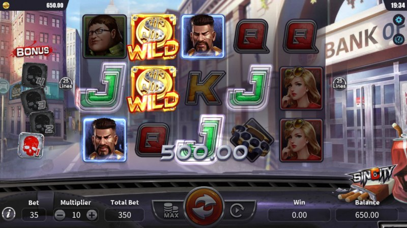 Sin City :: Multiple winning paylines