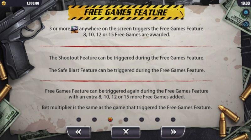 Sin City :: Free Games Bonus Rules