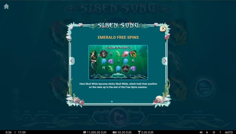 Siren Song :: Emerald Free Spins