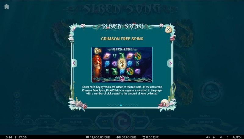 Siren Song :: Crimson Free Spins
