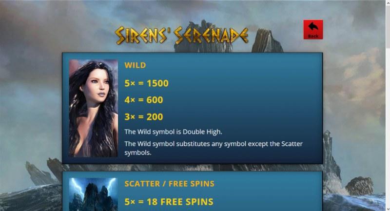 Sirens' Serenade :: Wild Symbols Rules