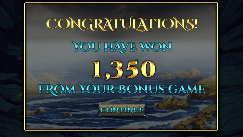 Sirens Treasures 15 Lines :: Total bonus payout