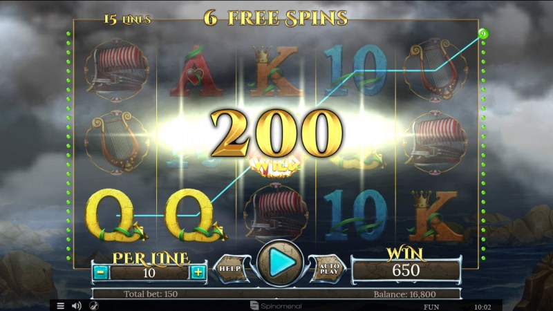 Sirens Treasures 15 Lines :: Free Spins Game Board