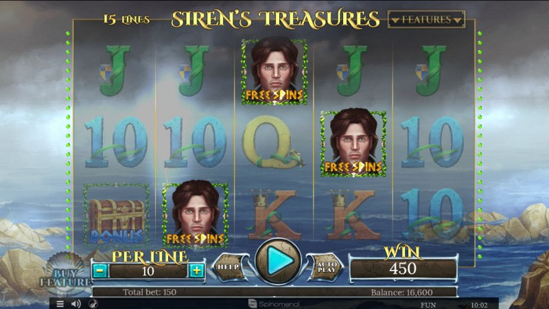 Sirens Treasures 15 Lines :: Scatter symbols triggers the free spins feature