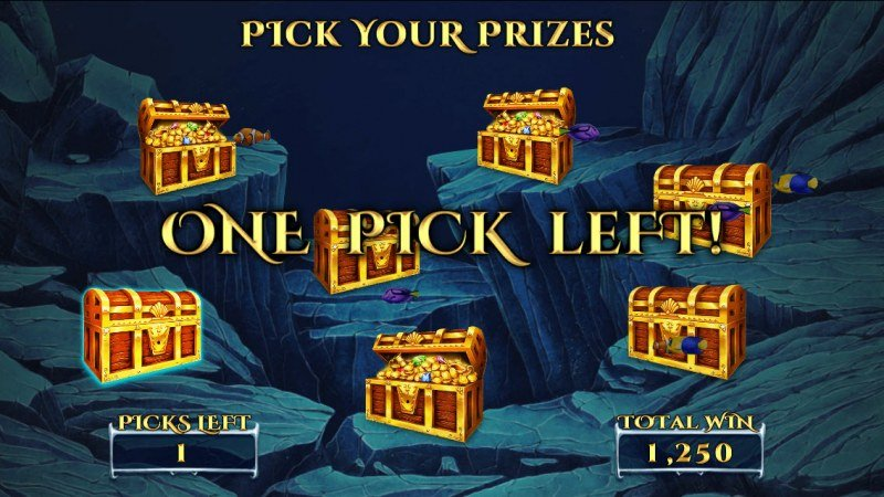 Sirens Treasures 15 Lines :: Pick treasure chest to reveal a prize