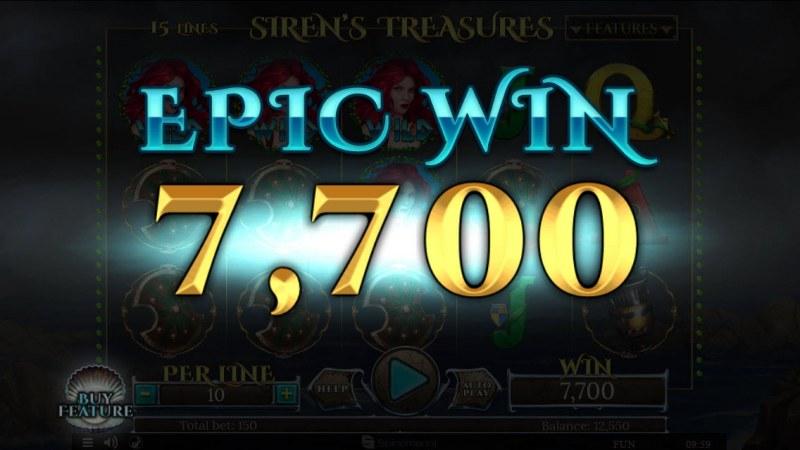 Sirens Treasures 15 Lines :: Epic Win