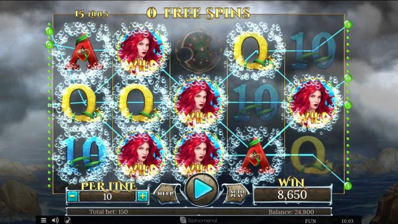 Sirens Treasures 15 Lines :: Multiple winning paylines