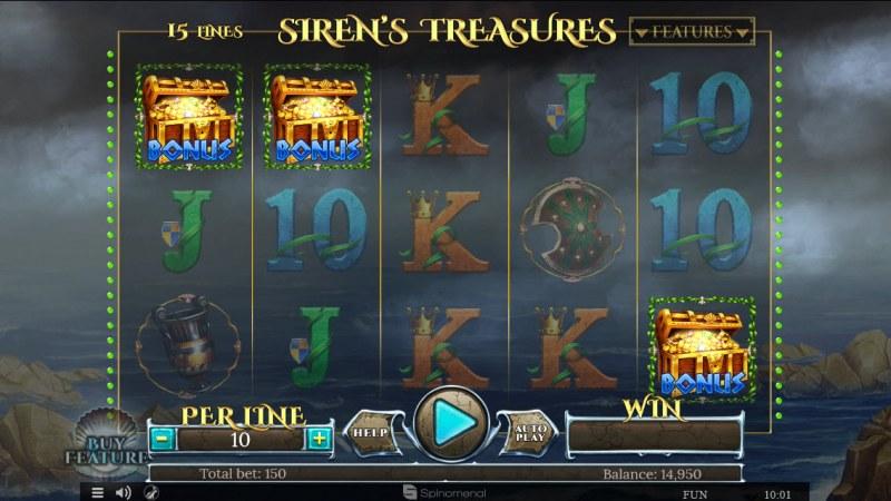 Sirens Treasures 15 Lines :: Scatter symbols triggers bonus feature