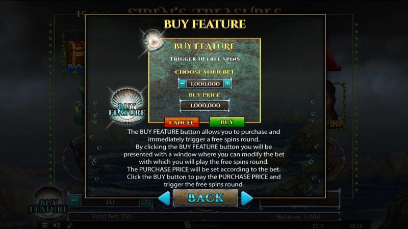 Sirens Treasures 15 Lines :: Buy Feature
