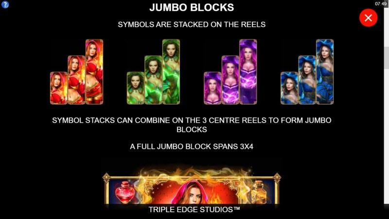 Sisters of Oz Jackpots :: Jumbo Blocks