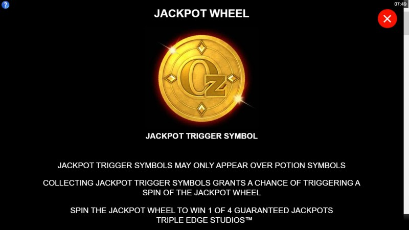 Sisters of Oz Jackpots :: Jackpot Wheel