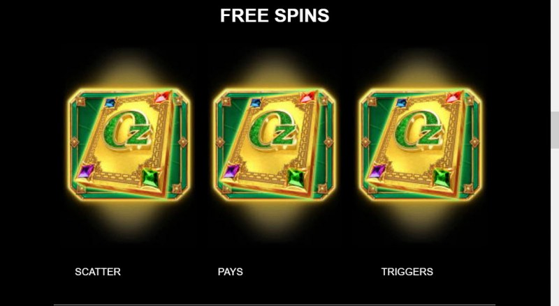 Sisters of Oz Jackpots :: Free Spin Feature Rules