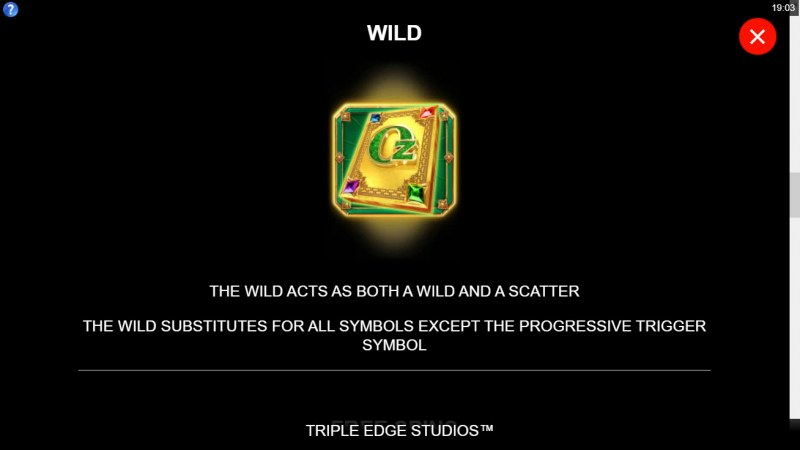 Sisters of Oz Wow Pot :: Wild Symbol Rules