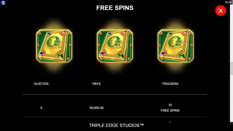 Sisters of Oz Wow Pot :: Free Spin Feature Rules