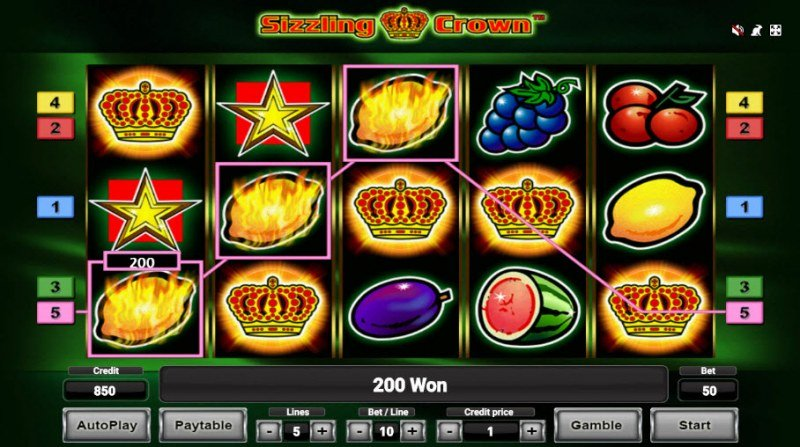 Sizzling Crown :: Three of a kind win
