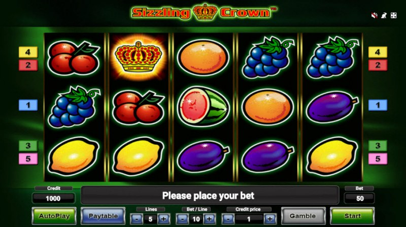 Play slots at Spinamba: Spinamba featuring the Video Slots Sizzling Crown with a maximum payout of $50,000