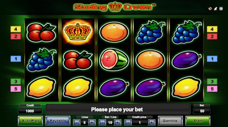 Sizzling Crown :: Main Game Board