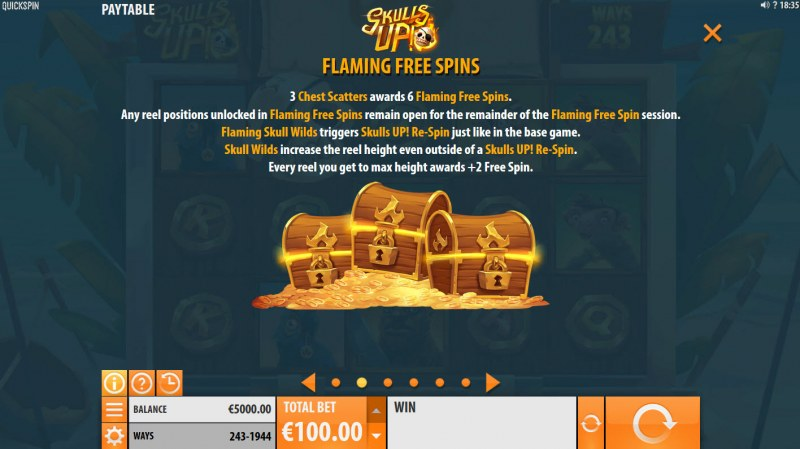 Skulls Up :: Free Spins Rules
