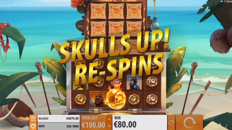 Skulls Up :: Respins triggered