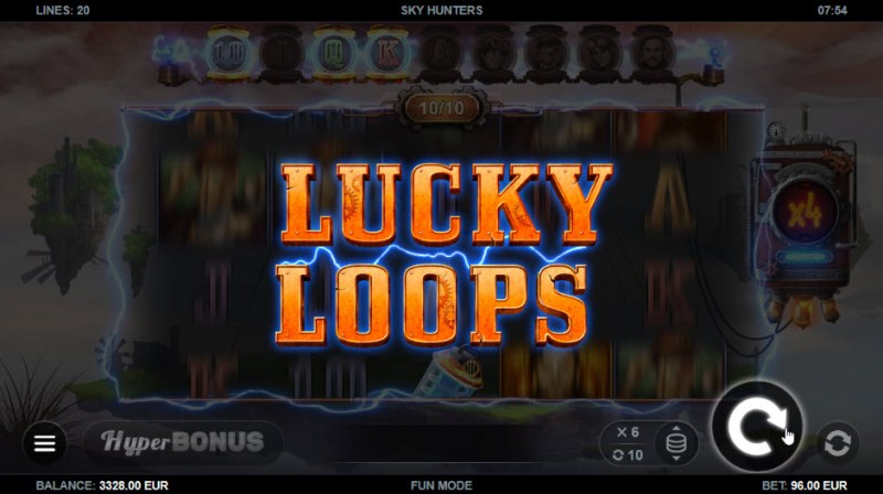 Sky Hunters :: Lucky Loop feature activates every 10th spin
