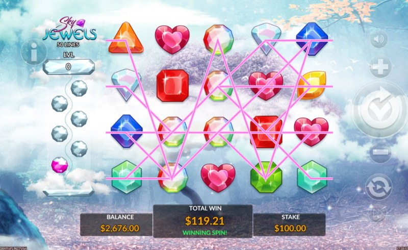 Sky Jewels :: Multiple winning paylines