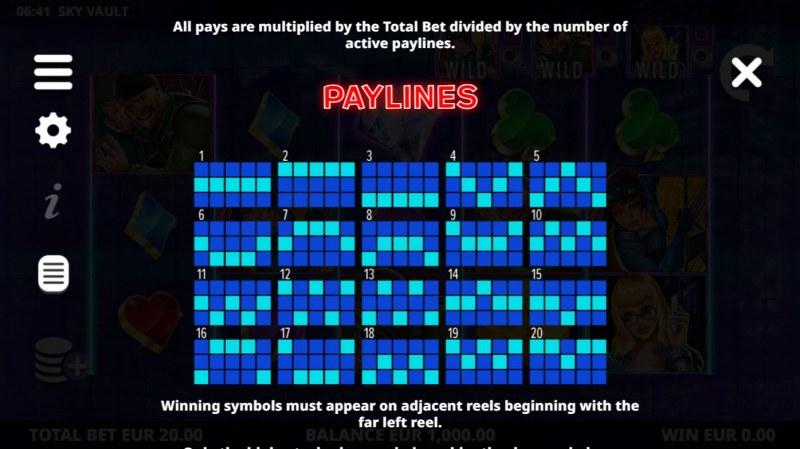 Sky Vault :: Paylines 1-20